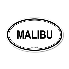 Malibu oval 35x21 Oval Wall Peel