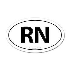RN Euro Style Auto 20x12 Oval Wall Peel -White
