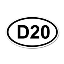 D20 20x12 Oval Wall Peel
