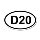 D20 35x21 Oval Wall Peel