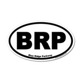 Blue Ridge Parkway BRP 20x12 Oval Wall Peel