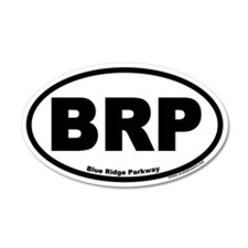 Blue Ridge Parkway BRP 35x21 Oval Wall Peel