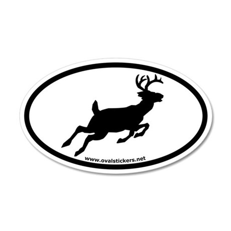 Whitetail Deer Oval Car Sticker