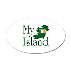 My Island 35x21 Oval Wall Peel