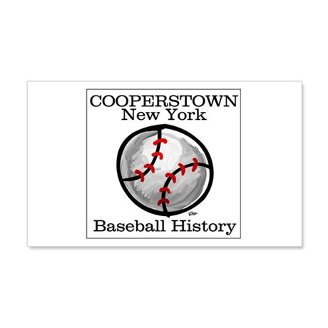 Cooperstown NY Baseball shopp Sticker (Rectangular