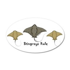 Stingrays Rule 35x21 Oval Wall Peel