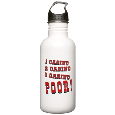 Casino Stainless Water Bottle 1.0L
