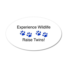 Experience Wildlife Raise Twi 35x21 Oval Wall Peel