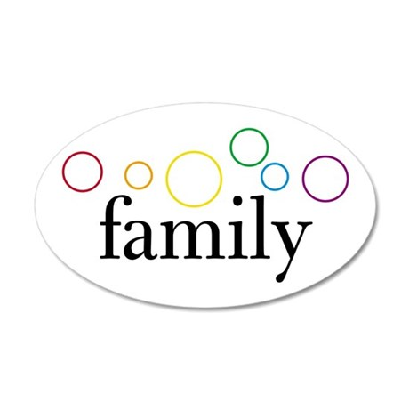 Family Pride (Rainbow Bubbles) 35x21 Oval Wall Pee