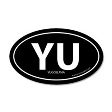 Yugoslavia country bumper sticker -Black (Oval)