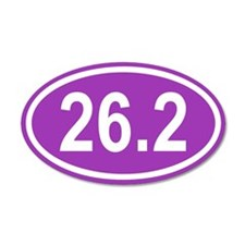 26.2 Marathon Purple Euro 35x21 Oval Wall Peel