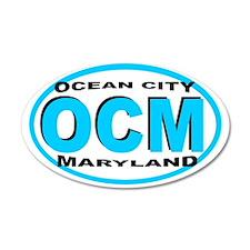 Ocean City MD 35x21 Oval Wall Peel