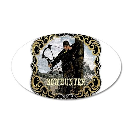 Bowhunter Archery logo 20x12 Oval Wall Peel