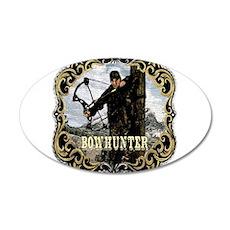Bowhunter Archery logo 35x21 Oval Wall Peel