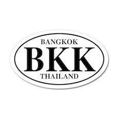 BKK Bangkok 20x12 Oval Wall Peel