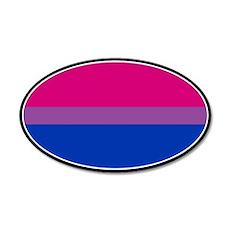 Bisexual Pride 20x12 Oval Wall Peel