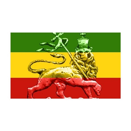 Roots Reggae Rasta Lion 35x21 Wall Peel