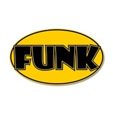 Oval Funk Sticker