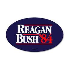 Reagan Bush '84 Campaign 35x21 Oval Wall Peel