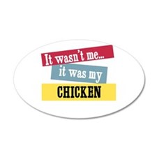 Chicken 35x21 Oval Wall Peel