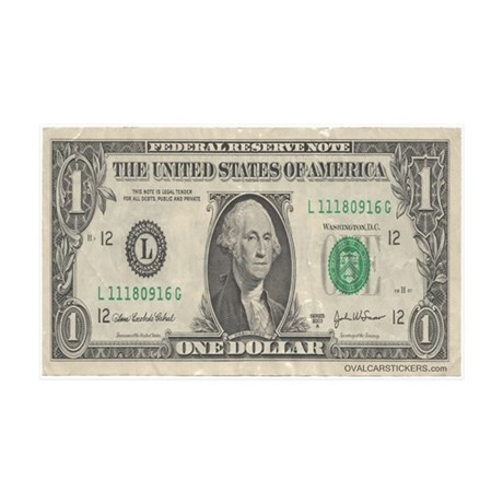 Dollar Bill 35x21 Wall Peel
