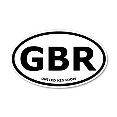 United Kingdom 35x21 Oval Wall Peel