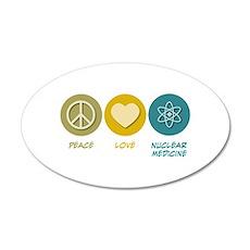 Peace Love Nuclear Medicine 35x21 Oval Wall Peel