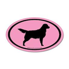 Pink Golden Retriever Oval #4 35x21 Oval Wall Peel