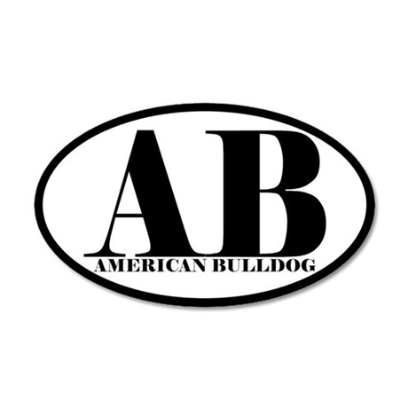 AB Abbreviation American Bulldog Sticker