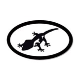 Crested Gecko 20x12 Oval Wall Peel
