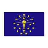 Indiana State Flag 20x12 Wall Peel