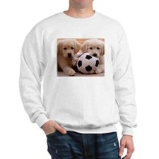 GOLDEN RETRIEVER TWO PUPPIES AND BALL Sweatshirt