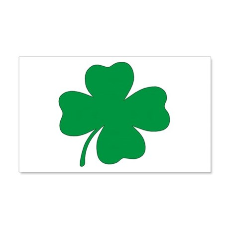 St. Patrick's Day Shamrock 20x12 Wall Peel