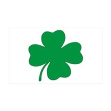 St. Patrick's Day Shamrock 35x21 Wall Peel