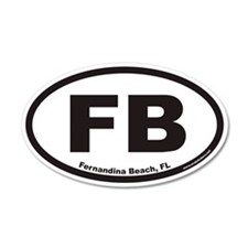 Fernandina Beach FB Euro 20x12 Oval Wall Peel