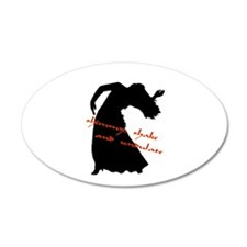 shimmy shake undulate silhoue 35x21 Oval Wall Peel