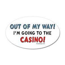 Casino Lovers 20x12 Oval Wall Peel