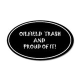 Oilfield Trash - Blk 35x21 Oval Wall Peel