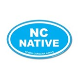 Carolina Blue North Carolina Native Wall Decal