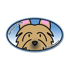 Anime Australian Terrier 35x21 Oval Wall Peel