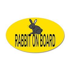 Rabbit on board 35x21 Oval Wall Peel