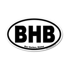 Bar Harbor, Maine BHB 20x12 Oval Wall Peel