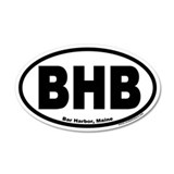 Bar Harbor, Maine BHB 35x21 Oval Wall Peel