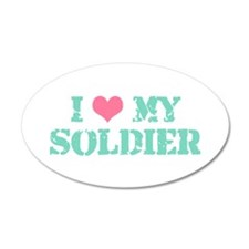 I ♥ my Soldier 20x12 Oval Wall Peel