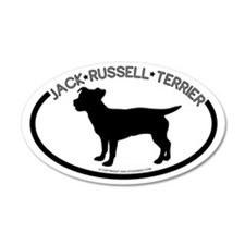 """Jack Russel"" White 35x21 Oval Wall Peel"