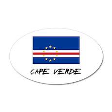 Cape Verde Flag 35x21 Oval Wall Peel