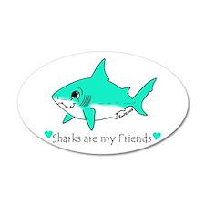 Shark Friend 35x21 Oval Wall Peel