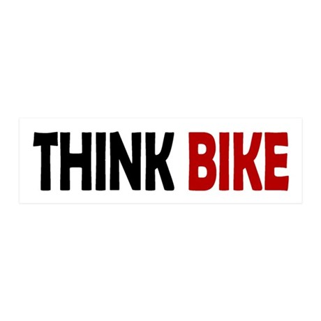Think Bike 20x6 Wall Peel