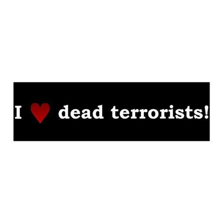 Heart Dead Terrorists 36x11 Wall Peel