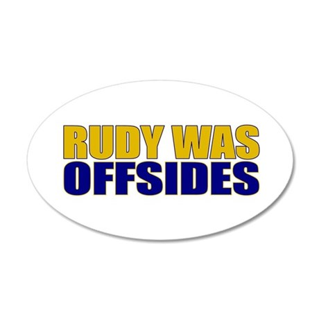 Rudy Offsides 35x21 Oval Wall Peel